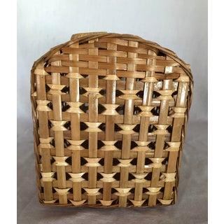 Wood & Raffia Pet Carrier Basket Preview