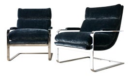Image of Charcoal Club Chairs