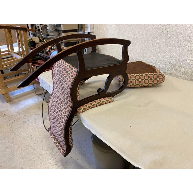 Antique Empire Rocking Chair With Romo Antara Upholstery For Sale In Minneapolis - Image 6 of 7