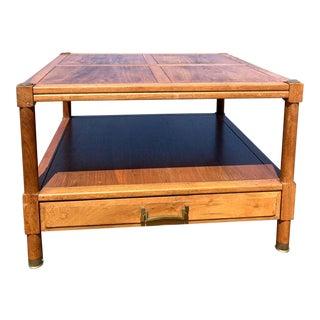 Mid-Century Modern Drexel Heritage Walnut Side Table For Sale