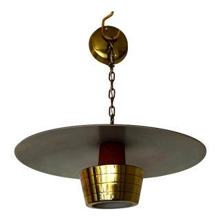 1950s Mid-Century John Virden Pendant Ceiling Light Model V-1120 For Sale