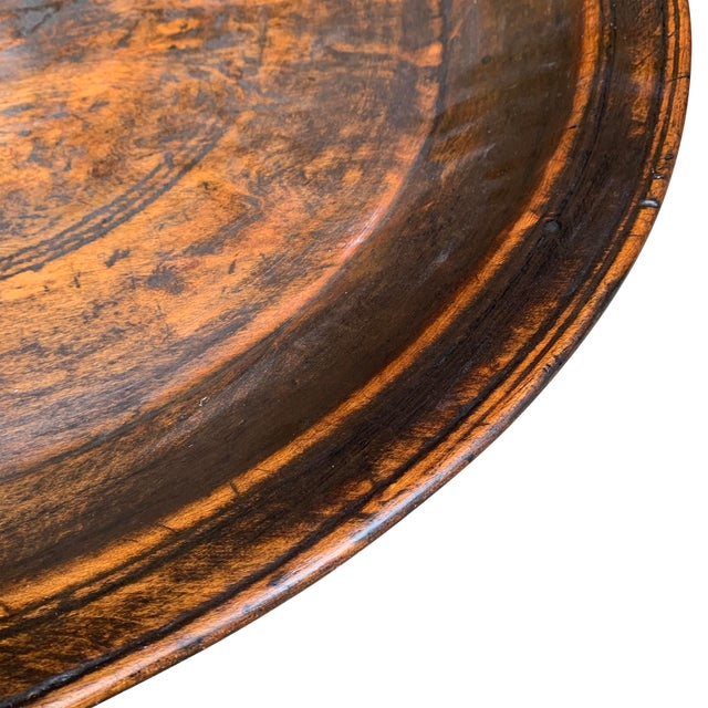 Large 19th Century Antique Turned Wood Tray For Sale In Chicago - Image 6 of 9