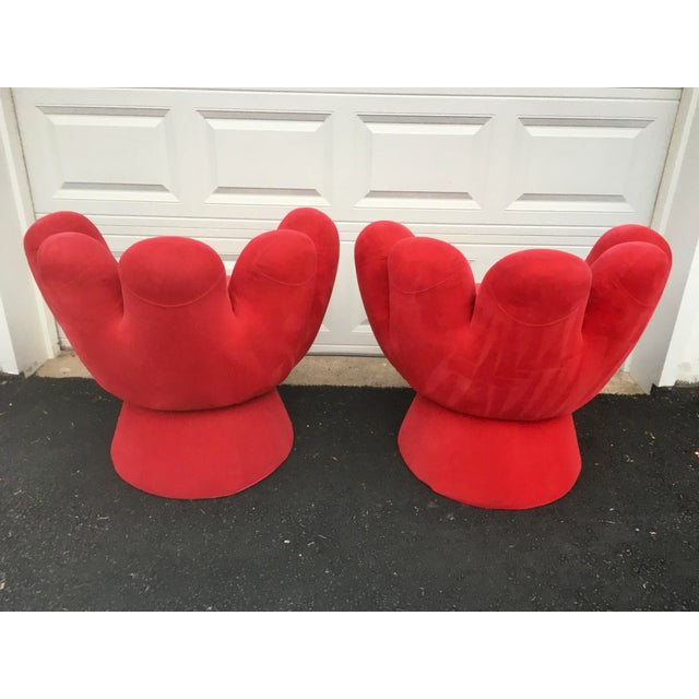 Vintage Contemporary Red Hand Chair- a Pair For Sale In New York - Image 6 of 11