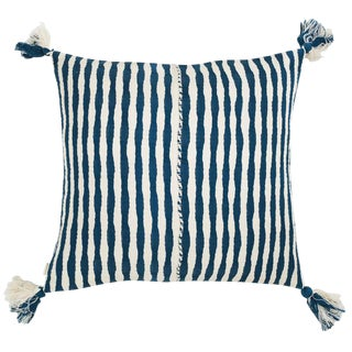 Dark Teal Blue Antigua Pillow For Sale