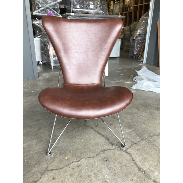Distressed Brown Accent Chair - Image 3 of 5