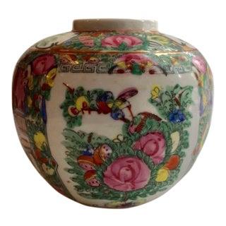 Rose Medalian Ginger Jar For Sale