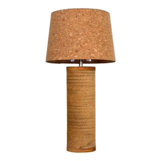 Gregory Van Pelt Cylindrical Cardboard Lamp With Cork Lamp Shade For Sale