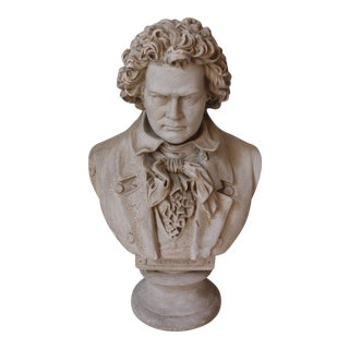 Antique Plaster Bust of Beethoven by Boston Sculpture Co.