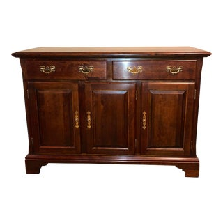 1990s Traditional Cherry Wood Cresent Brand Server For Sale