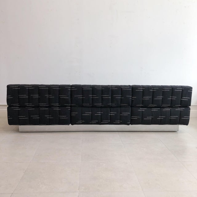 Mid Century Harvey Probber 3 Seater Cubo Sofa With Chrome Base For Sale In West Palm - Image 6 of 9