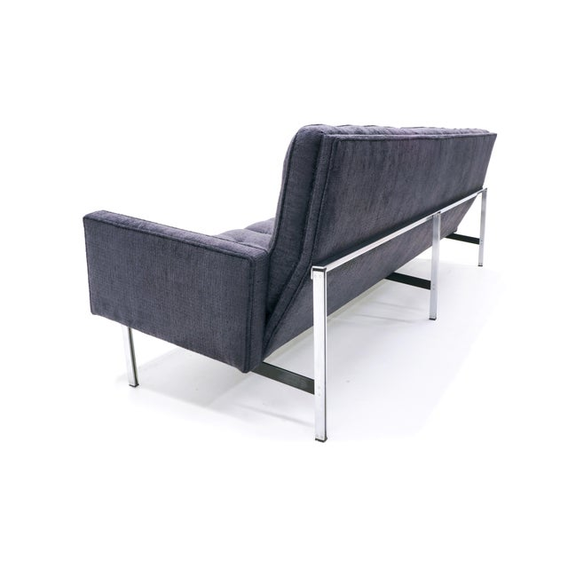 1950s Florence Knoll Parallel Bar Sofa, Early Production, Restored, Excellent For Sale - Image 5 of 6