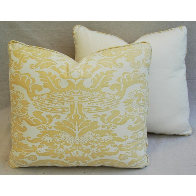 Mariano Fortuny Italian Corone Crown Feather/Down Pillows - Pair - Image 10 of 10