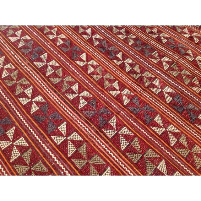 Vintage Turkish Kilim Rug - 6′7″ × 10′4″ For Sale - Image 5 of 7