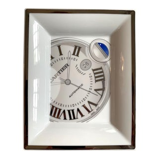 Cartier Limoges Roman Numeral Watch Tray For Sale