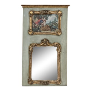 19th Century French Louis XV Trumeau For Sale