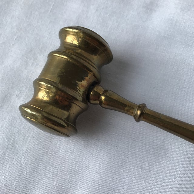 Traditional Brass Gavel Decorative Object For Sale - Image 3 of 5