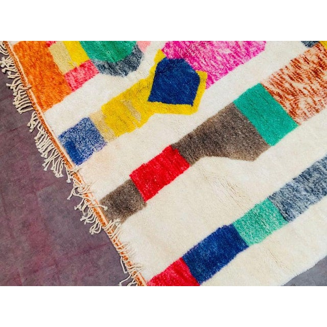 """Textile Moroccan Beni Ourain Mrirt Rug-8'x10"""" For Sale - Image 7 of 9"""