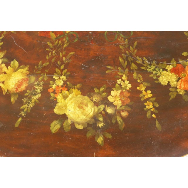 Traditional George III Paint Decorated Demilune Game Table, circa 1780 For Sale - Image 3 of 8