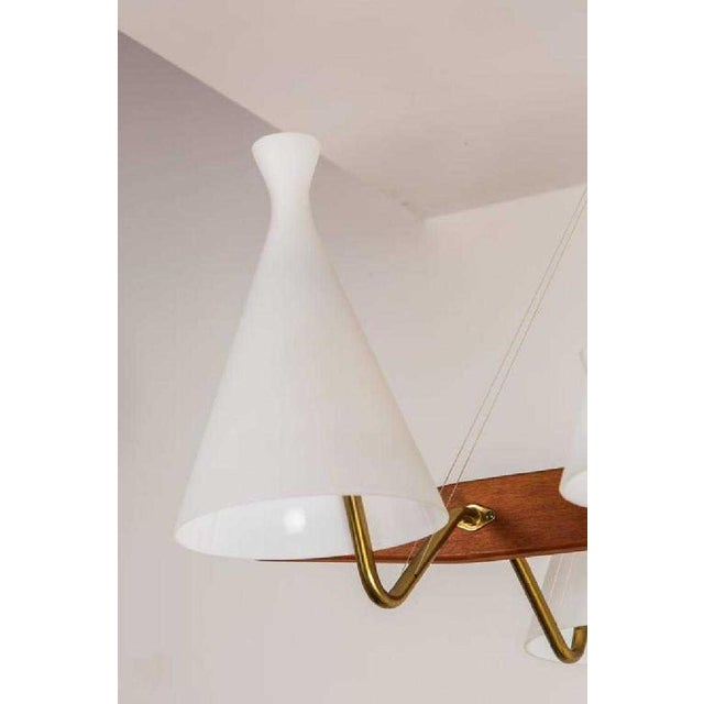 Swedish Mid-Century Modern 6-Arm Chandelier For Sale In Los Angeles - Image 6 of 8