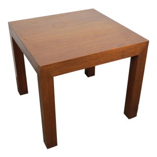 1970s Mid-Century Modern Parsons Side Table For Sale