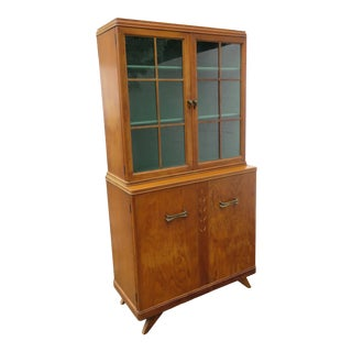 Mid Century Modern China Display Cabinet Cupboard 2251 For Sale
