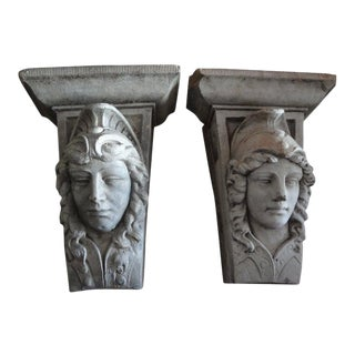 Early 20th Century Classical Style Architectural Wall Corbels-A Pair For Sale