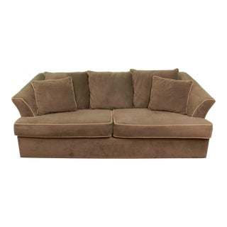 Safari Green Tan Pillow Sofa