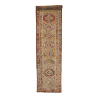 Vintage Turkish Oushak Runner - 02'11 X 12'03 For Sale