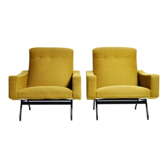 1960s Vintage Joseph-André Motte French Armchairs - a Pair For Sale