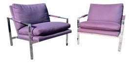 Image of Purple Lounge Chairs