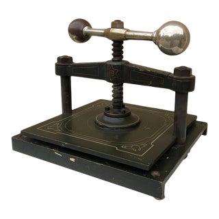 19th Century French Art Nouveau Period Cast Iron Book Press For Sale