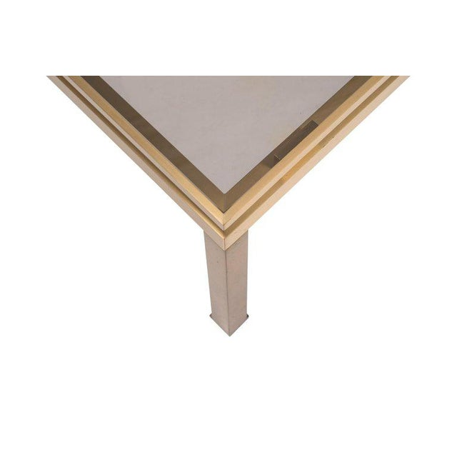 Guy Lefevre Side Tables in Brass and Smoked Glass for Maison Jansen For Sale - Image 6 of 10