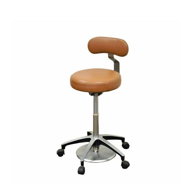 Vintage Mid Century Industrial Modern Adjustable Dental Dentist Chair Stool Seat For Sale - Image 11 of 11