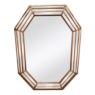 Vintage La Barge Octagonal Wall Mirror For Sale