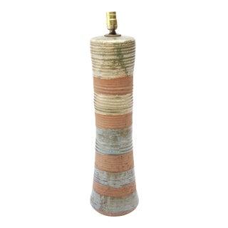 Karen Karnes Mid-Century Modern Stoneware Art Pottery Table Lamp 2 For Sale