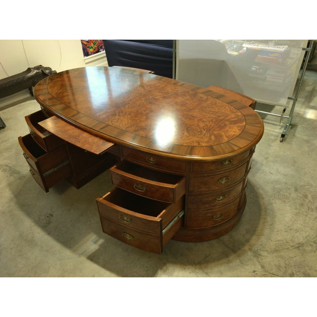French Provincial Presidential Double Sided Desk - Image 5 of 11