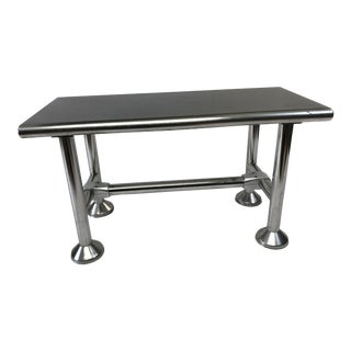 Vintage Industrial Stainless Steel Small Lab Table For Sale