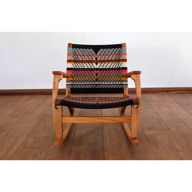2020s Mid Century Modern Rocking Chair For Sale - Image 5 of 8