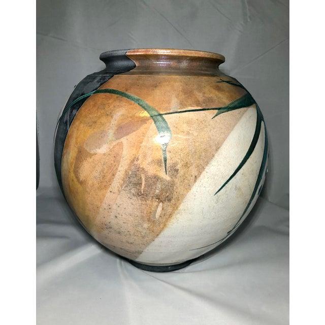 Japanese Raku Pottery Vessel, Signed For Sale - Image 3 of 6