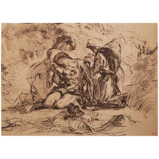 Delacroix St. Sebastian 1959 Lithograph For Sale