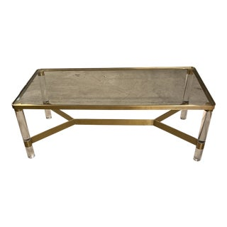Anthropologie Oscarine Lucite Rectangle Coffee Table For Sale
