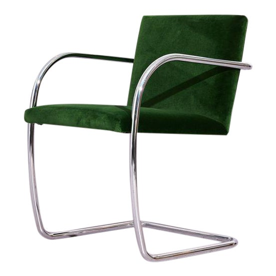 Ludwig Mies Van Der Rohe Tube Chrome Cantilever Side Chair For Sale