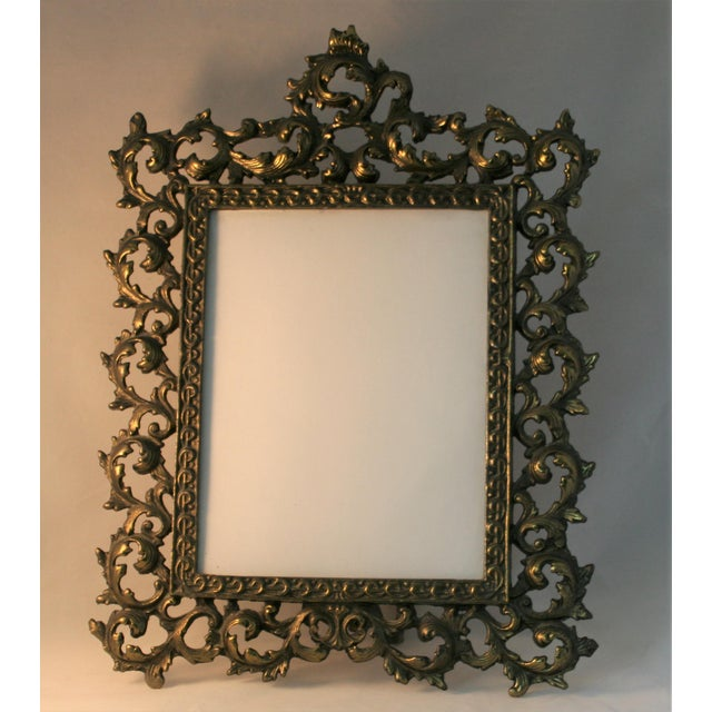Vintage Brass Rococo Table Top Picture Frame - Image 3 of 6