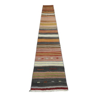 "Vintage Turkish Kilim Runner-2'x12'11"" For Sale"
