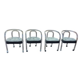 Charles Hollis Jones Lucite Chairs - Set of 4