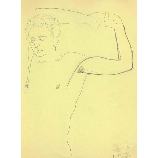 1980s Standing Male Nude by James Bone For Sale
