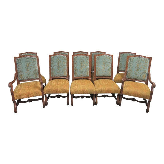 Rococo Style Italmond Furniture Co Dining Chairs - Set of 10 For Sale