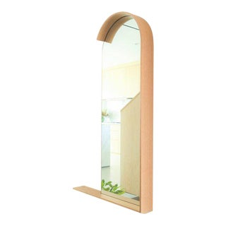 Portrait Mirror in Natural White Oak For Sale