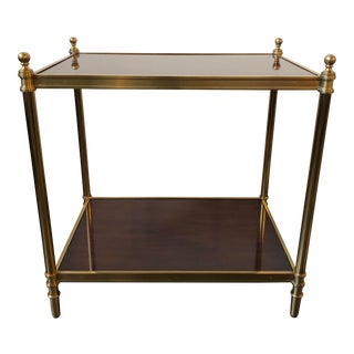 Ralph Lauren Home Edwardian Brass End Table For Sale