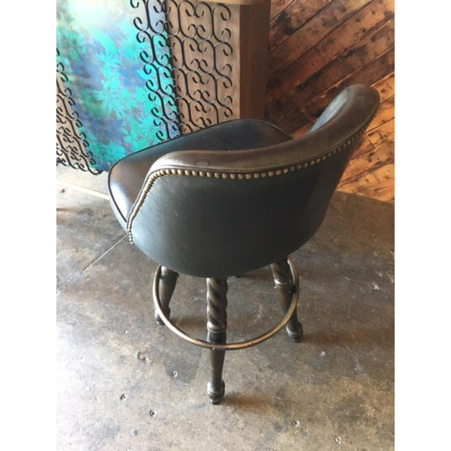 Mid Century Free Standing Bar with 2 Vinyl Stools - Image 10 of 11